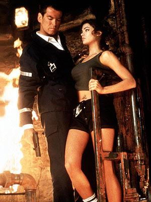 James Bond and Denise Richards