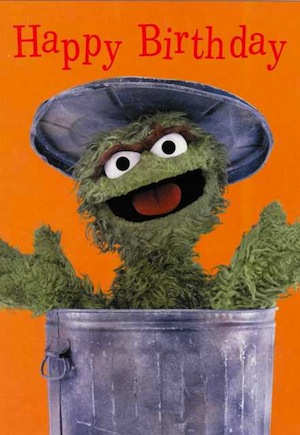 Oscar the Grouch Birthday