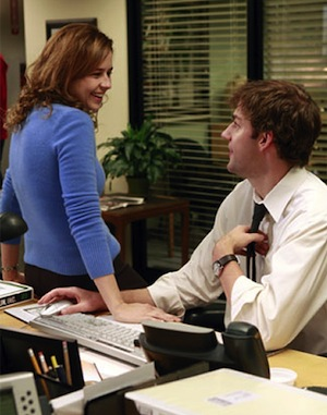 Jim and Pam Flirting