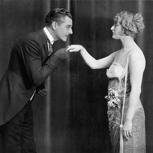 Vintage Man Courting Woman