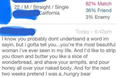 creepy dating site messages