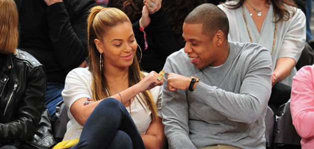 Jay-Z and Beyonce Fist Bumpin'