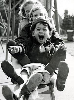 Vintage Kids Playing