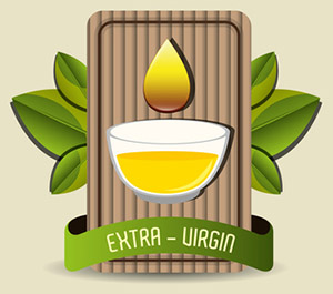 Natural olive oil labe